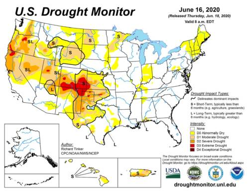 Agricultural Drought Expands
